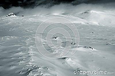 De duinen van de sneeuw