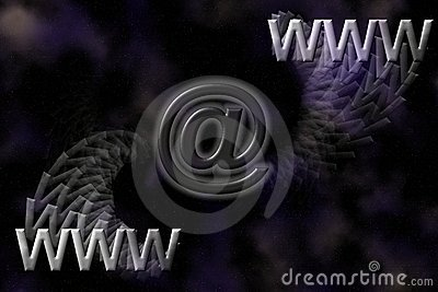 De e-mailachtergrond van WWW en.