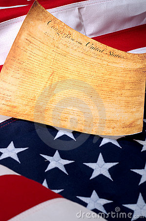 De eerste pagina van de Rekening of de Rechten van de V.S.