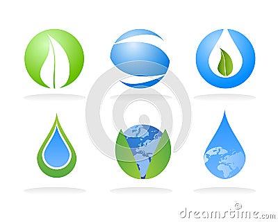 De elementen van het de aardembleem van de ecologie