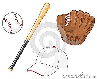 De elementen van het honkbal