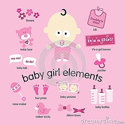 De Elementen van het Meisje van de baby