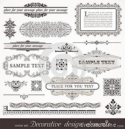 De elementen van het ontwerp & paginadecor