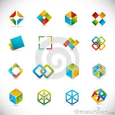 De elementen van het ontwerp - kubussen