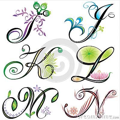 De elementenontwerp van alfabetten - s