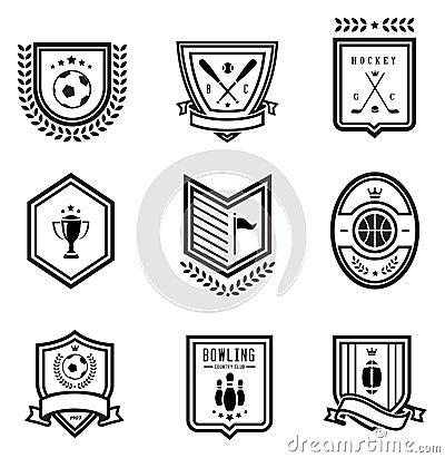 De emblemen van de sport
