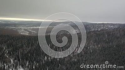 De enorme wildernis Van Alaska stock videobeelden