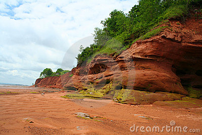 De Erosie van de kust