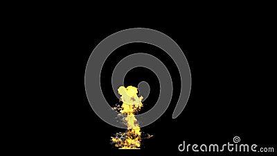 De explosie van de raketlancering stock footage