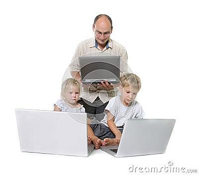 De familie van de computer