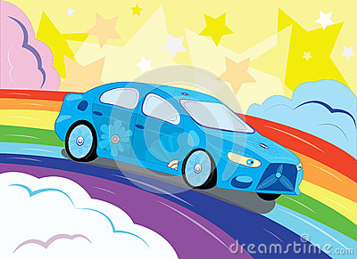 De fantastische auto in de hemel.