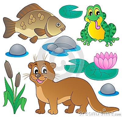 De faunainzameling 1 van de rivier