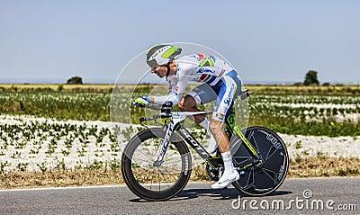 De fietser Daryl Impey Redactionele Afbeelding