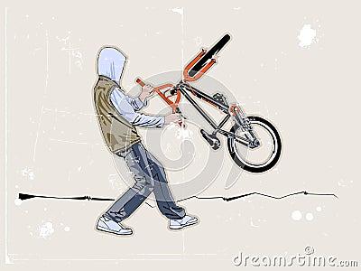De fietser van de straat