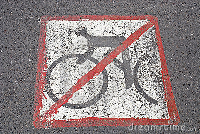 De fietsers hebben geen weg