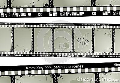De filmstrip van Grunge