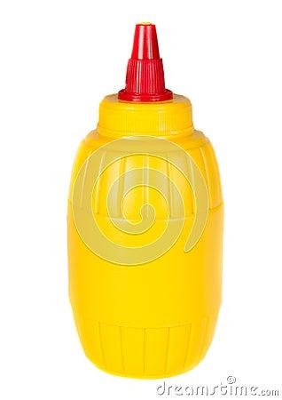 De fles van de mosterd
