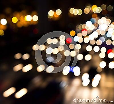 De-focused light background
