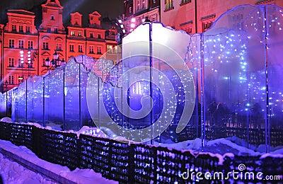 De fontein van het glas op Vooravond Silvester