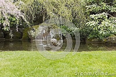 De fontein van het water in de vijver van de tuin royalty vrije stock foto afbeelding 24497125 - Foto van tuin vijver ...