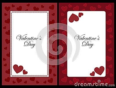 De frames van de valentijnskaart
