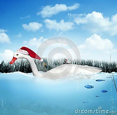 De gans van Kerstmis