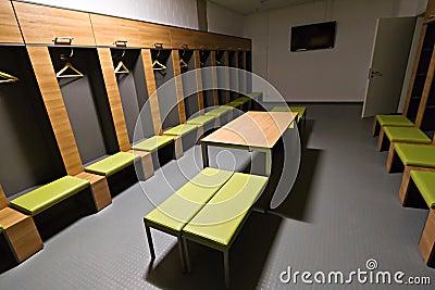 De garderobe van spelers van het stadion van de Arena PGE Redactionele Afbeelding