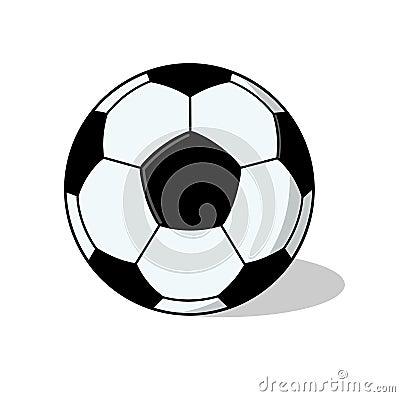 De geïsoleerde Illustratie van de bal van de Voetbal