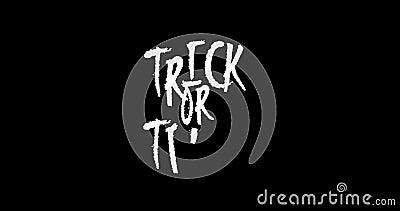 De geanimeerde Halloween-Truc of behandelt Uitdrukking op Transparante Achtergrond stock videobeelden