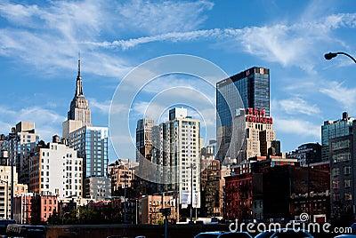 De Gebouwen van de Stad van New York Redactionele Stock Afbeelding