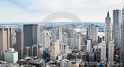 De gebouwen van Manhattan