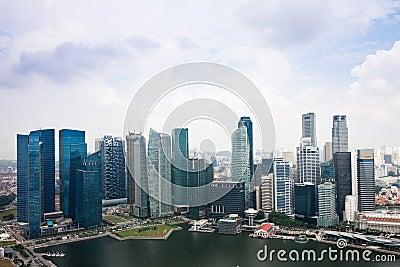 De Gebouwen van Singapore Redactionele Foto