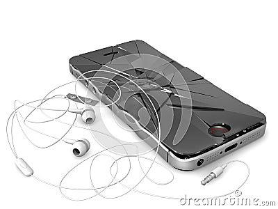 De gebroken telefoon