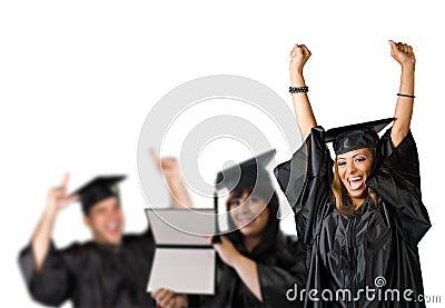De gelukkige Dag van de Graduatie