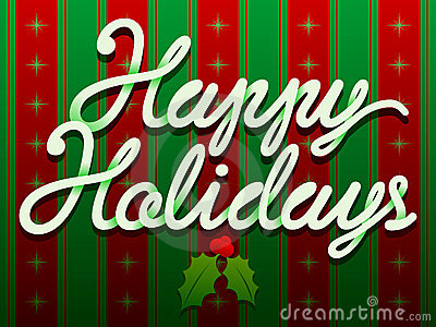 De gelukkige Tekst van Kerstmis van de Vakantie