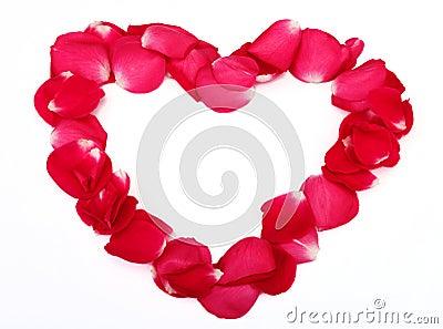 De gemaakte ââwith bloemblaadjes van het hart vorm