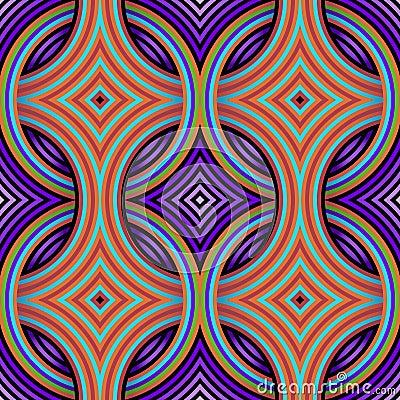 Retro Naadloze Patroon van het Behang