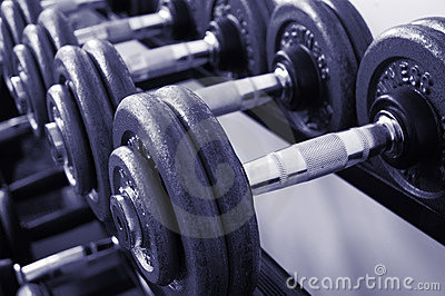De Gewichten van de gymnastiek