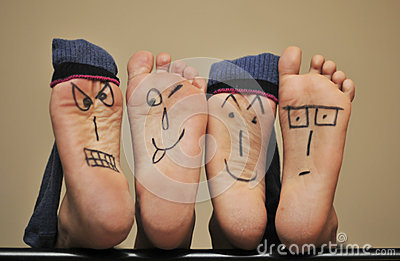 De gezichten van de voet
