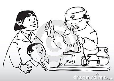 De gezondheidscontrole van het kind