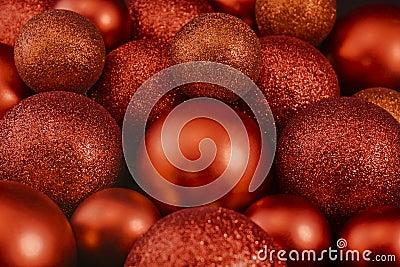 De glanzende ballen van Kerstmis