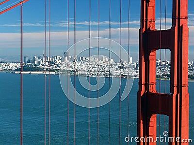 De gouden brug van de Poort. San Francisco. Californië. De V.S.