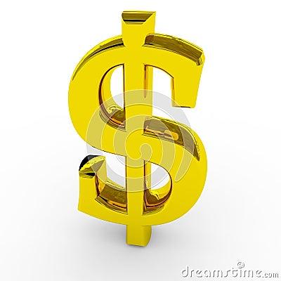 De gouden dollar zingt.