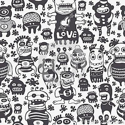 De grappige karakters sieren