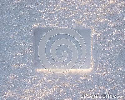 De grens van de sneeuw