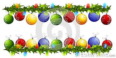 De Grenzen of de Verdelers van Swag van het Ornament van Kerstmis