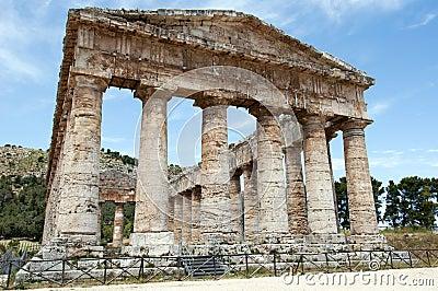 De Griekse tempel van Segesta