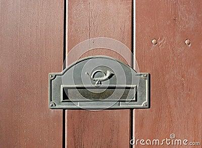 De groef van de post