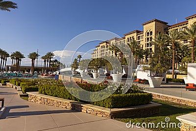 De groen pool van de Valleiboerderij en kuuroord in Las Vegas, NV op 20 Augustus, 2 Redactionele Fotografie