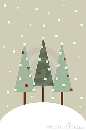 De groetkaart van Kerstmis